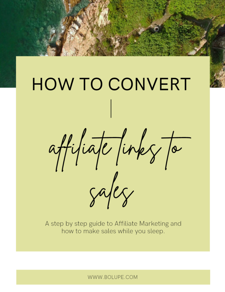How to convert affiliate links to sales   Bolupe